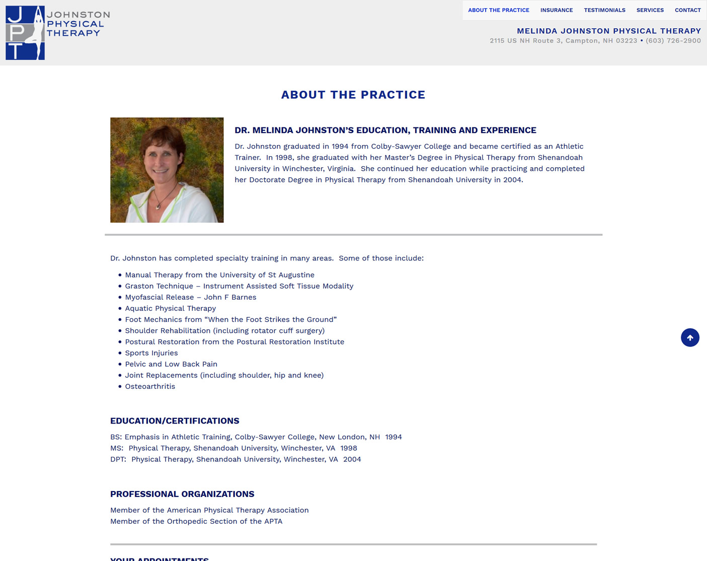 Degree in physical therapy - Click To Enlarge