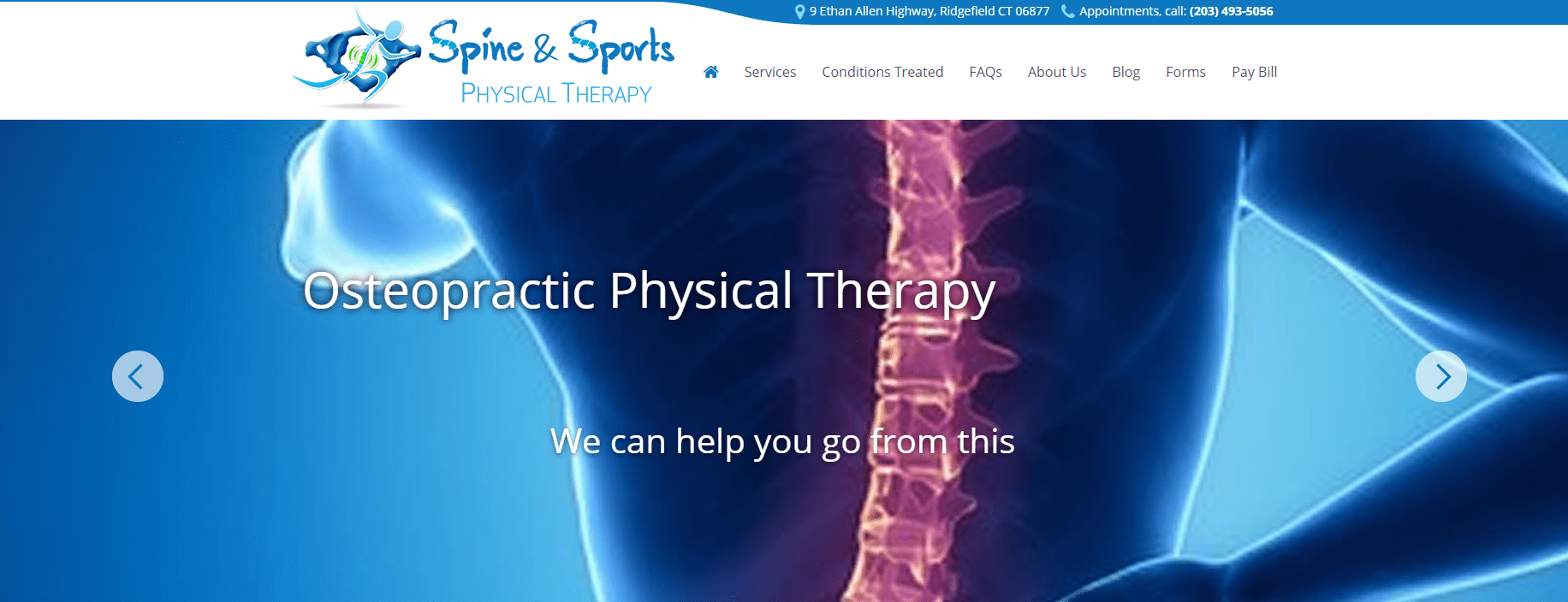 New Site Launch: Spine & Sports Physical Therapy