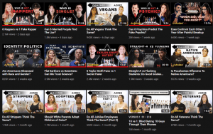 Thumbnail examples on YouTube