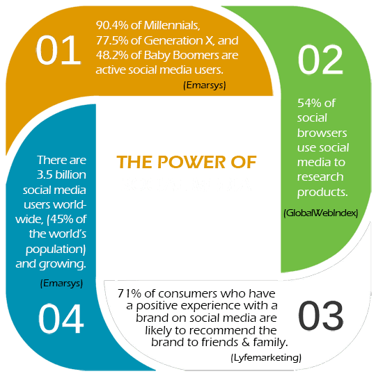 The Power of Social Media Marketing Infographic