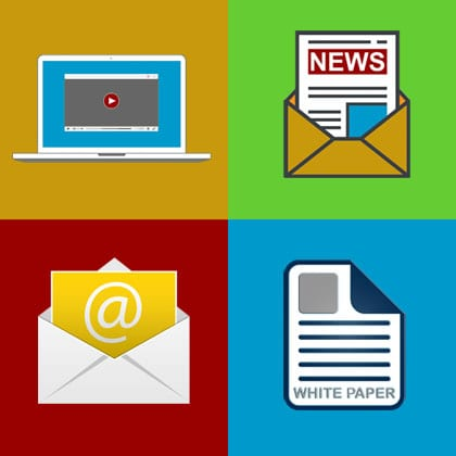 Lead Generators email video newsletters white papers