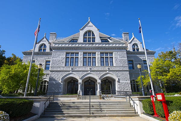 New Hampshire Legislative Office Building, Concord, New Hampshire NH, USA. Legislative Office Building, built in 1884 with Victorian style, was formerly post office of Concord.